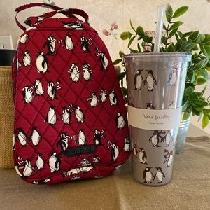 Vera Bradley Lunch Bag and Drink tumbler